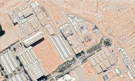 An aerial image of the nuclear reactor site in King Abdulaziz city for science and technology, Saudi Arabia.