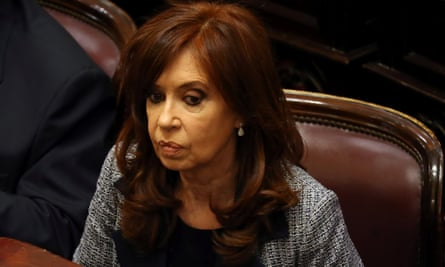 Cristina Fernández attends a session at the senate in Buenos Aires on 22 August. Fernández is currently a senator, a post that grants her immunity from prosecution.