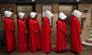 handmaids queue to get a copy of The Testaments