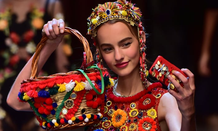 94b921d66d9b Dolce   Gabbana shares the amore in Milan with jolly 50s Italy collection