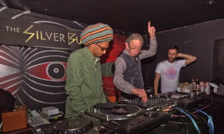 DJ Derek with Don Letts at the Silver Bullet, London.