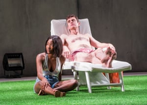 Adelayo Adedayo and Paul Higgins in The Seagull at the Lyric (2017)