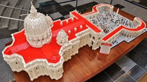 Lego reproduction of St. Peter's Basilica