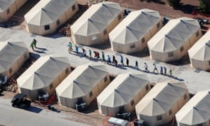 'They're relying on tent cities to hold children ... because they're not getting children out of detention,' said Jennifer Podkul, policy director at Kids in Need of Defense.