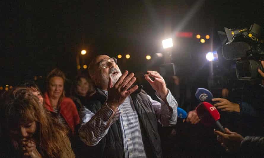 Ahmet Altan after being released on 4 November 2019.