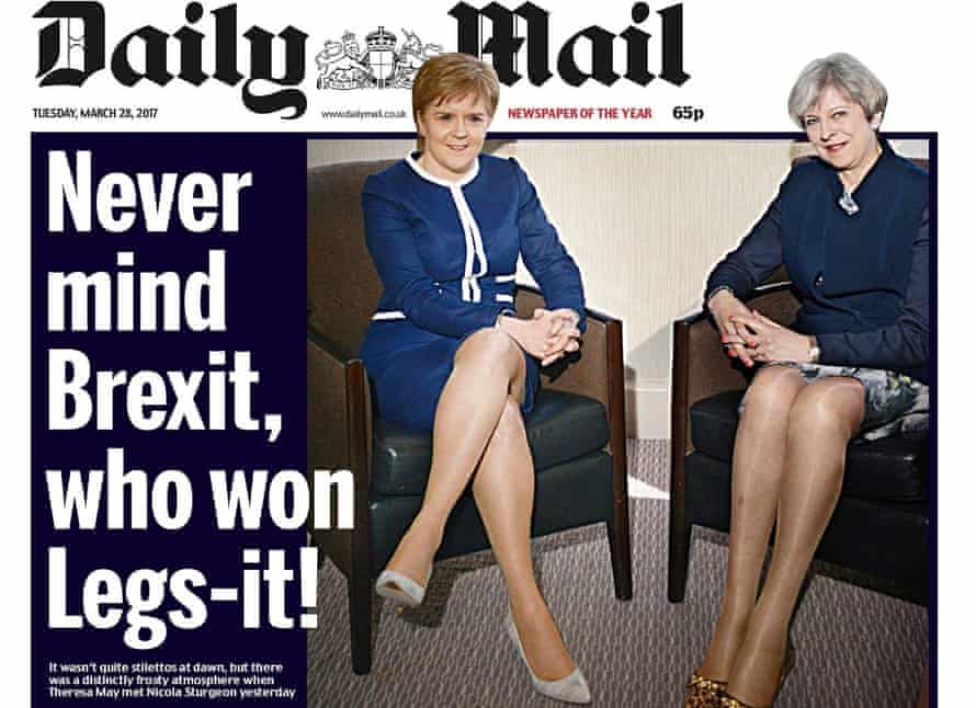 Front page of the Daily Mail, 28 March 2017.