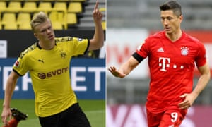Free-scoring strikers Erling Haaland and Robert Lewandowski are set to face off on Tuesday.
