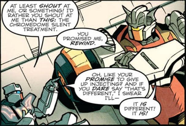 Kiss me, Chromedome: how the Transformers found peace and same-sex