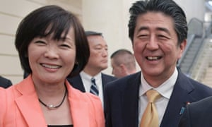 Japanese prime minister Shinzo Abe and his wife Akie