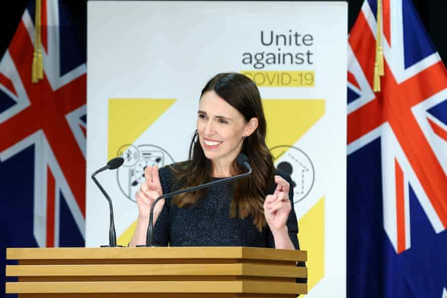Prime Minister Jacinda Ardern speaks to media during a press conference at Parliament.