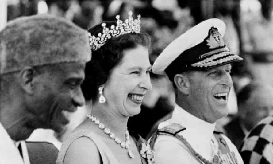 The Queen and Prince Philip on a visit to Sierra Leone in 1961.
