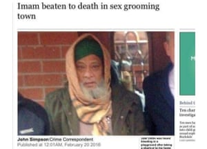 The controversial Times online headline.