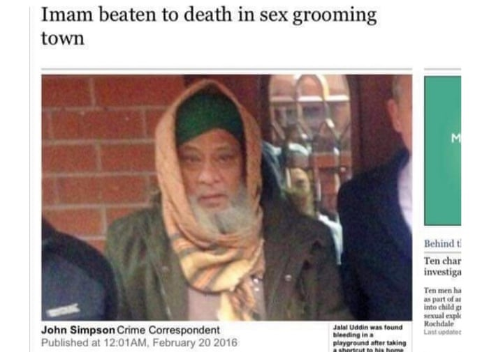 Times headline about death of Rochdale imam attracts