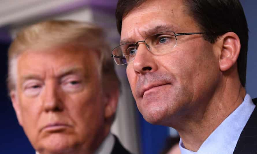 Mark Esper was appointed by Donald Trump as his second defence secretary in July 2019.