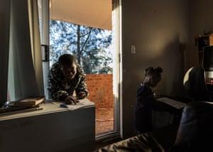 Children inside their room