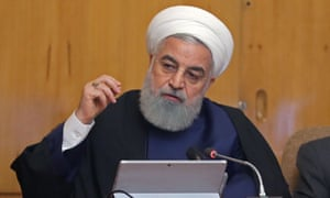 Hassan Rouhani delivers a speech in Tehran on Wednesday.