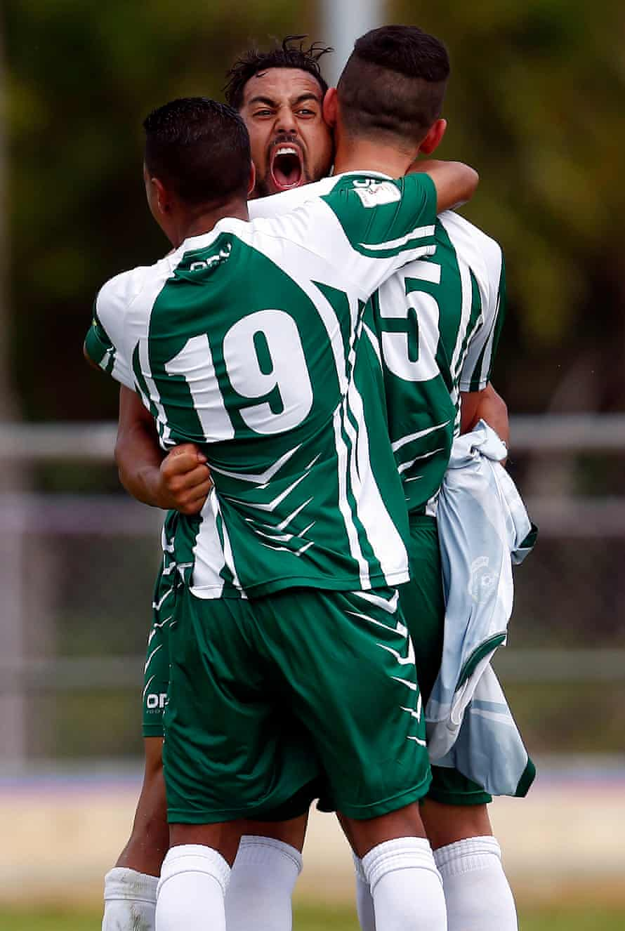 Cook Islands players celebrate