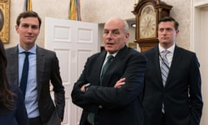 Jared Kushner, John Kelly, and Rob Porter at the White House.