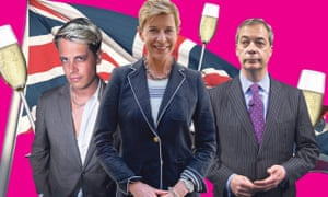 Milo Yannopoulos, Katie Hopkins and Nigel Farage