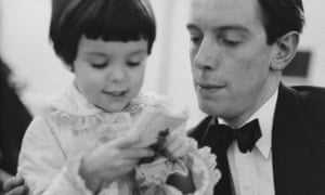 'Clothes dress up a stark narrative': the author with her father, the Observer's former theatre critic, in the 1950s.