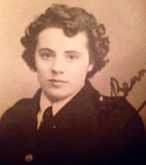 Mary Ellen 'Mabel' Patton Burrows during the second world war, when she was a volunteer with the fire service.