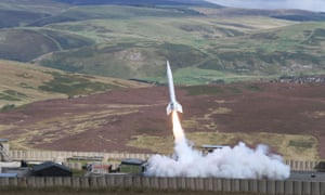 The Skybolt 2 launch from Otterburn in Northumberland.