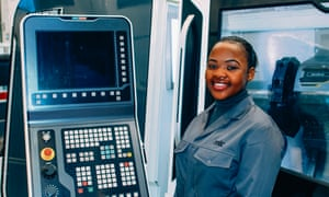 Melissa Chigubu is an apprentice at the Manufacturing Technology Centre