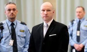 Anders Breivik in court in Skien, Norway, in March.