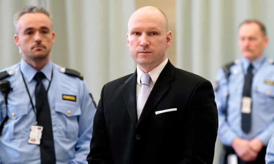 Anders Breivik in court in Skien, Norway, in March.