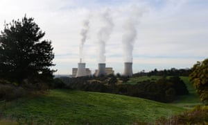 Steam billows from the cooling towers at TRUenergy Holdings' Yallourn coal-fired power station.