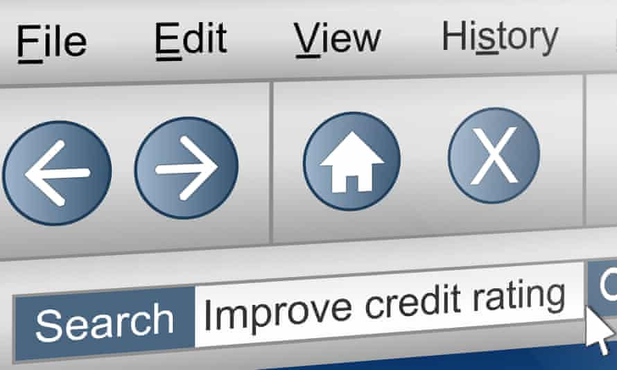 An internet search about credit scores