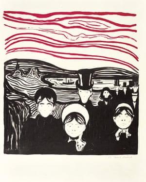 Edvard Munch's Le Soir (Angst).