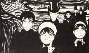 Detail from Edvard Munch's Le Soir (Angst).