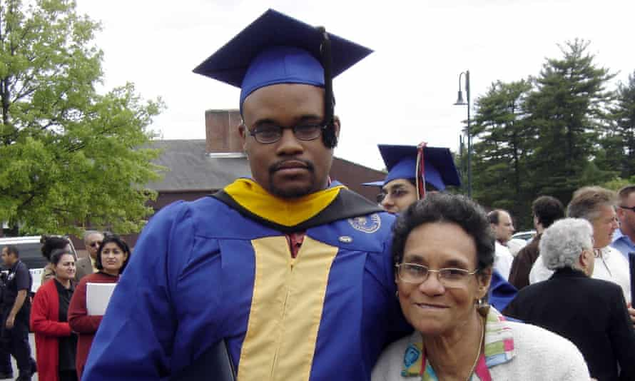 A family photo of Jermaine McBean and his grandmother Sylvia. McBean was shot while carrying an unloaded air rifle.