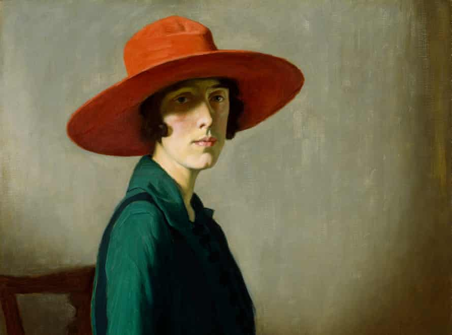 Lady With a Red Hat, 1918, by William Strang.