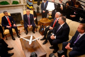 The meeting in the Oval Office moments ago.