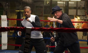 Coach and co … Michael B Jordan and Sylvester Stallone in Creed