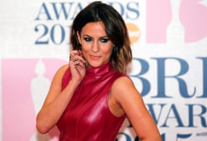 Television presenter Caroline Flack arrives for the BRIT music awards at the O2 Arena in Greenwich, London, February 25, 2015