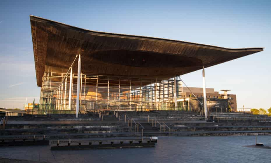 Elegant and engaging … the home of the Welsh National Assembly in Cardiff Bay.