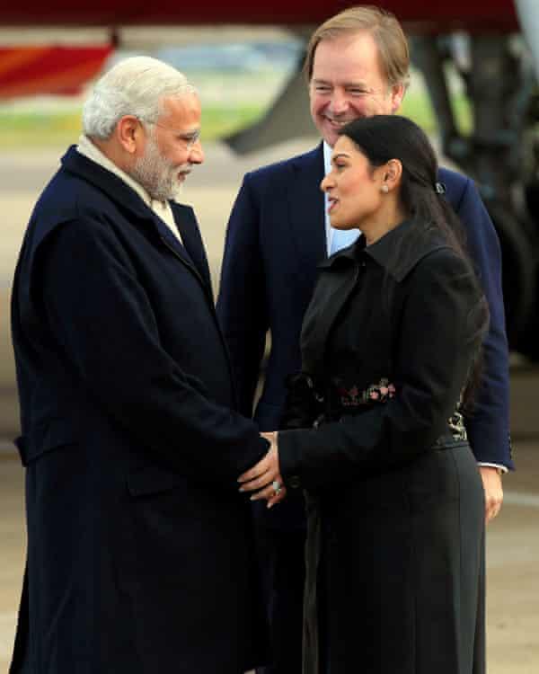 Narendra Modi and Priti Patel