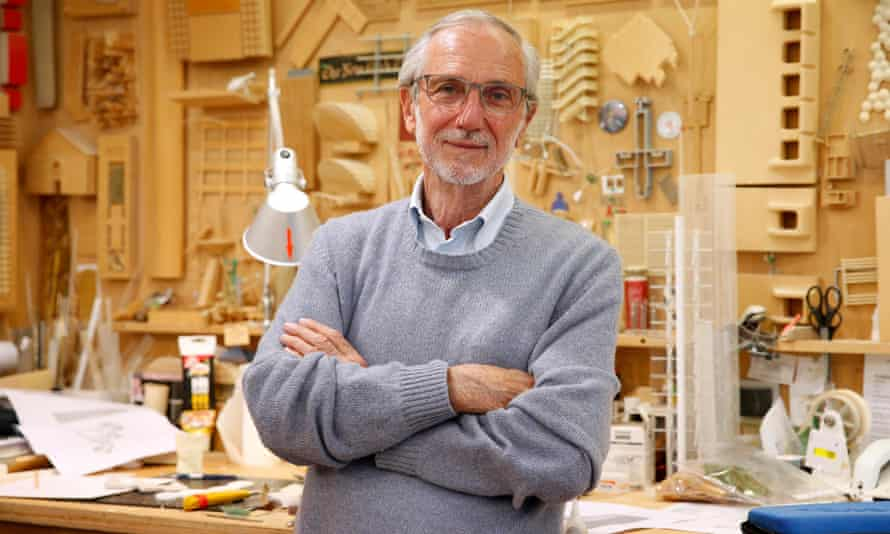 Renzo Piano at his workshop in Paris in 2015.