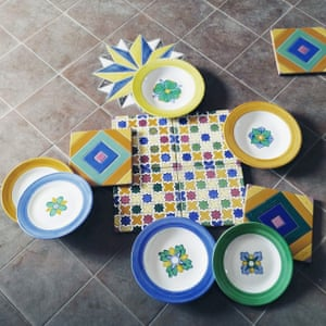 Tiles on display at Stingo Antica Manifattura Ceramica, Naples, Italy.