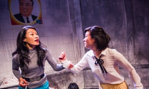 Lourdes Faberes plays Mrs Park, elitist mother of Yeon Eun-Mi (Anna Leong Brophy) in P'yongyang by In-Sook Chappell.