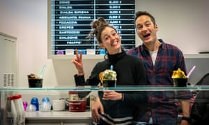 Luca and Andrea, hosts – and gelateria owners - from warmshowers in Luzzara.