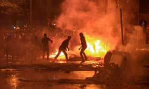 Thousands of Lebanese blocked major highways and burnt tyres for a second day to protest corruption and proposed tax hikes
