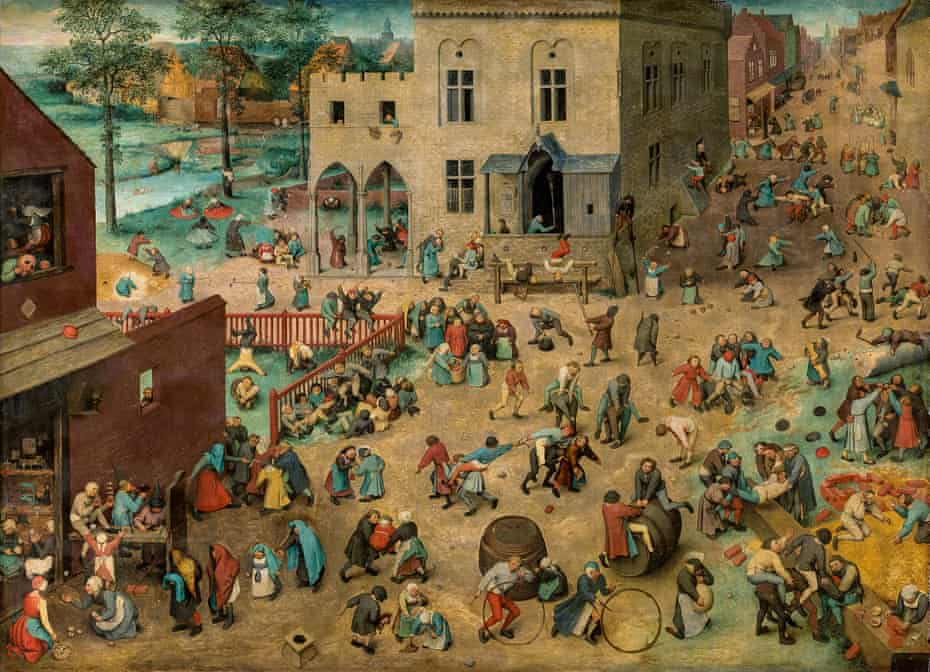 An epic street scene … Children's Games, 1560.