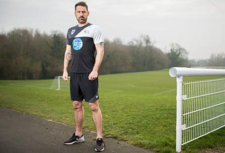 Scott Carson at Derby's training ground.
