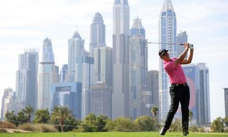 Christiaan Bezuidenhout n'a perdu que la première place lors du deuxième trou supplémentaire dans la Dubai Desert Classic en janvier.