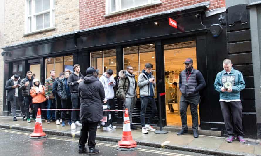 Supreme queue in Soho .