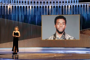 Renée Zellweger announces the late Chadwick Boseman as winner of the best actor – motion picture drama award for Ma Rainey's Black Bottom
